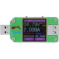 AiLi UM24C USB 2.0 Power Meter Tester USB Multimeter Color LCD Display Voltage Current Meter Voltmeter Amperimetro…