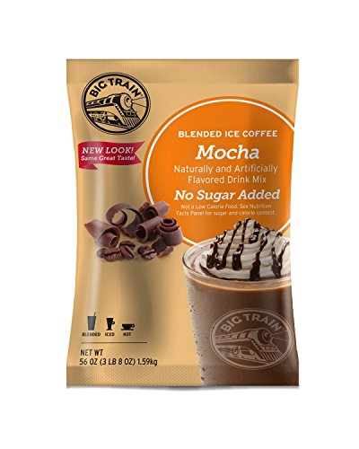 Big Train Blended Ice Coffee without Sugar, Mocha, 3.5 Pound