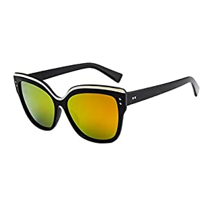 Mens Womens Glasses Cat Eye Retro Vintage Fashion Sunglasses Eyeglasses Eyewear (D, 5.7)