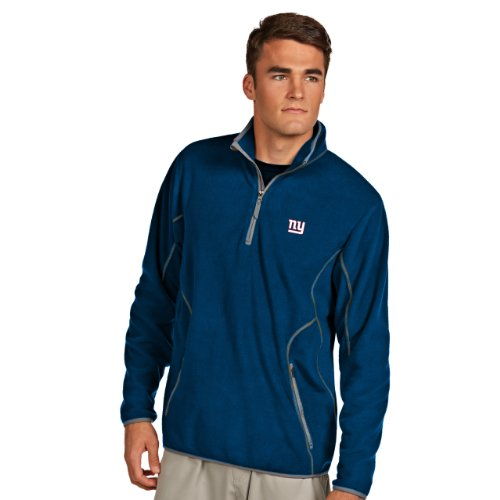 (NFL New York Giants Men's Ice Pullover, Dark Royal/Steel, X-Large)