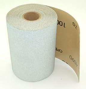 """Stick-on PSA Sandpaper Roll, 4.5"""" Wide, 10 Yds. Long, 80 Grit."""