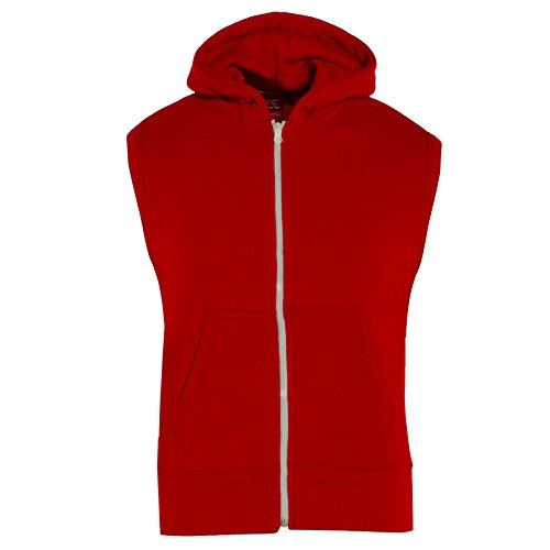 Kids Girls Boys Plain Gilet Fleece Hoodie Zipper Sleeveless Jacket 7-13 Years ()