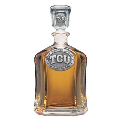 Heritage Metalwork TCU Texas Christian Decanter Whiskey Liquor Bottle - Frog Good Work Holder