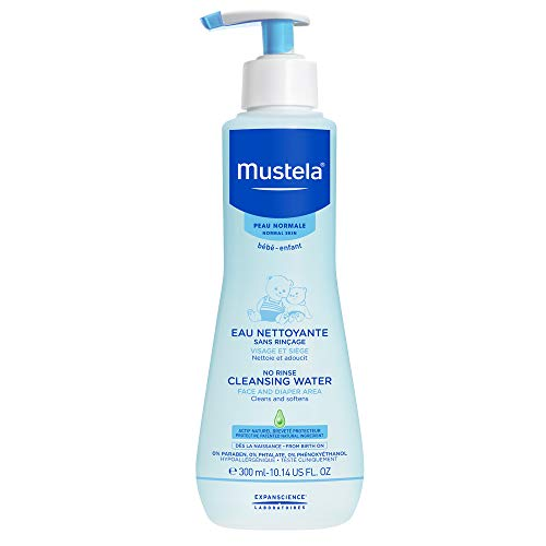 Mustela No Rinse Cleansing Water, Micellar Water Cleanser for Baby, 10.14 Fl Oz (Best Way To Treat Eczema On Babies)