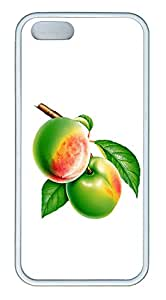iPhone 5s Case, iPhone 5s Cases - Two fruits TPU Polycarbonate Hard Case Back Cover for iPhone 5s¨CWhite