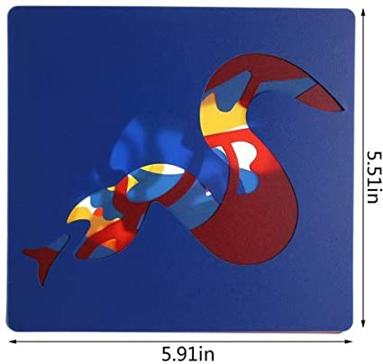 6 Pcs//Set Plastic Painting Template Dinosaur Drawing Stencil Templates for Kids Crafts,Washable Template for School Projects by HONGTIAN