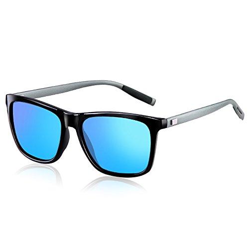 wearPro Mujer B UV400 y Hombre WP2003 Polarizadas Gafas Azul para Clásico Negro Protección Retro Wayfarer de Sol g6rq1gvx