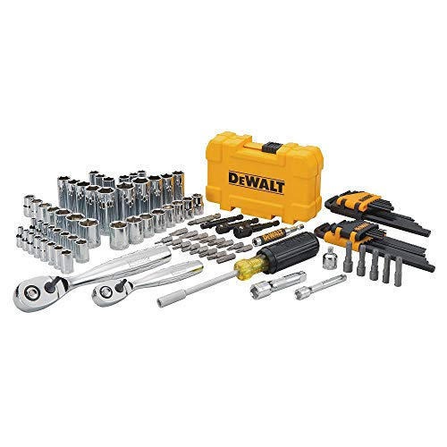 Professional Mechanic Tool Set Chrome with Case (108-Pc). Complete Mechanics Tools Kit w/Box Organizer & Storage has Variety of Automotive Equipment & Accesories for Car Repair. Gift for Men & Women by DEWALTS Tools (Image #4)