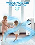 """COMFYHOME 2-in-1 32"""" Evaporative Air Cooler & Tower Fan w/Cooling & Humidification Function, Bladeless Design, 3 Wind Speeds, 4 Modes, 40° Oscillation, 15H Timer, Remote Control for Home Office"""