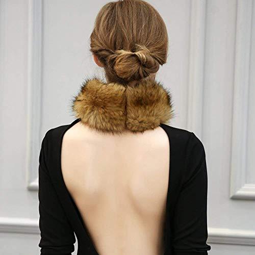 Elegante Delle Hx Signore Pfau Fe Sciarpa Pelliccia Collo Di Fashion Rotondo TITqFnwxZA