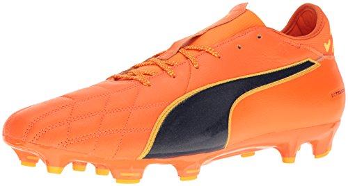Puma Mens Evotouch 3 Lth Fg Scarpa Da Calcio Arancione Pagliaccio Pesce-pe