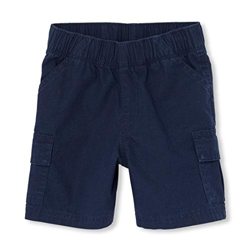 Cargo Slant Pockets Shorts - The Children's Place Baby Boys' Toddler' Pull On Cargo Shorts, Tidal 60634, 5T