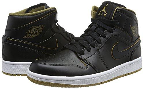 Nike Heren Air Jordan 1 Mid Basketbalschoen Zwart