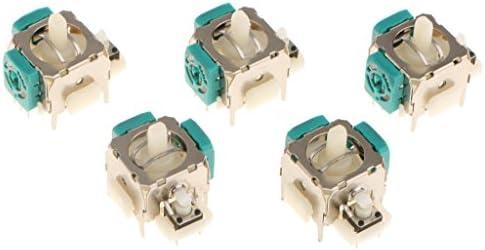 コントローラーアナログスティック 修理用 Eタイプ 5個セット XBOX 360に対応 金属 プラスチック