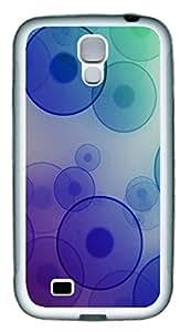 Samsung S4 Case Purple Circle TPU Custom Samsung S4 Case Cover White