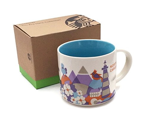 Starbucks Coffee 2013, You are here collection, North Carolina Mug, 14 oz.