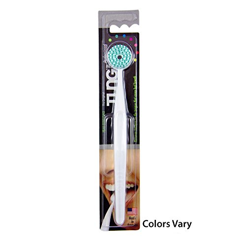 The Original TUNG Brush Tongue Cleaner (Pack of 1) Colors Vary