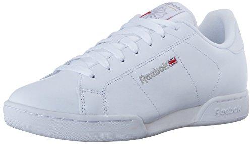 Reebok Men's NPC II Classic Sneaker,White/Light Grey,9.5 M US