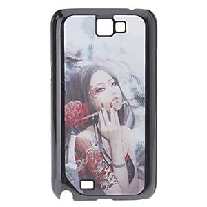 Conseguir Flower Fairy Efecto 3D Patrón duradero estuche duro para Samsung Galaxy Note N7100 2