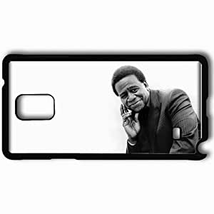 Personalized Samsung Note 4 Cell phone Case/Cover Skin Al Jarreau Smile Face Palm Suit Black