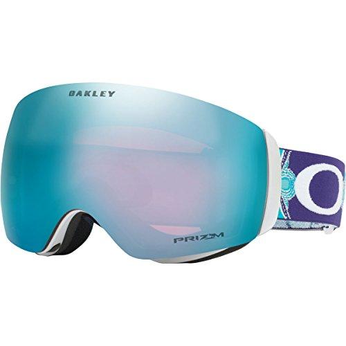 Oakley Flight Deck XM Snow Goggles, Wanderlust Ice Frame, Prizm Sapphire Iridium Lens, - Goggles Women Oakley