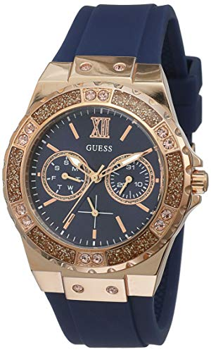 805f4e6dd Guess Womens Analogue Quartz Watch with Silicone Strap W1053L1 - Buy ...