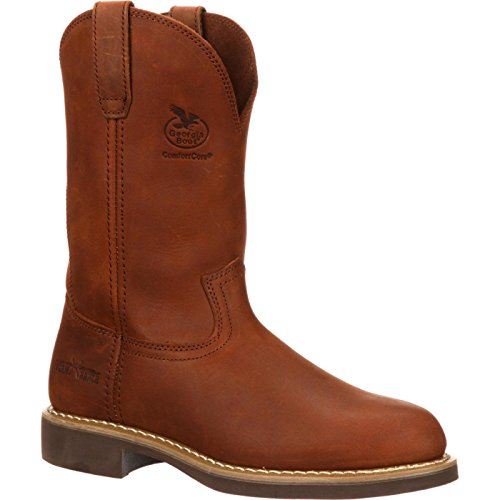 Georgia Men's Carbo Tec-M Farm and Ranch, Prairie Chestnut, 9 D US