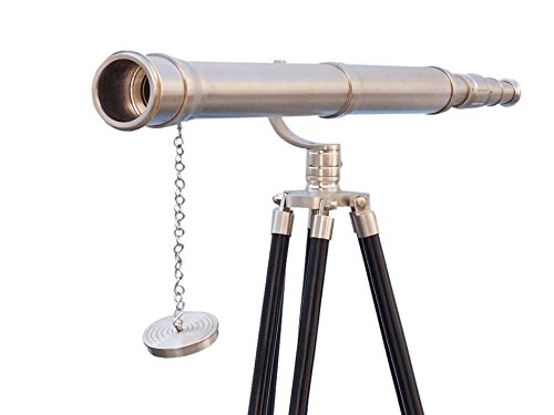 Nautic Marine - Floor Standing Brushed Nickel Galileo Telescope 65