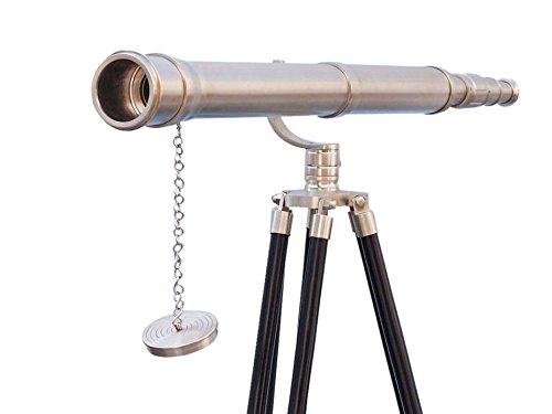 Floor Standing Brushed Nickel Galileo Telescope 65