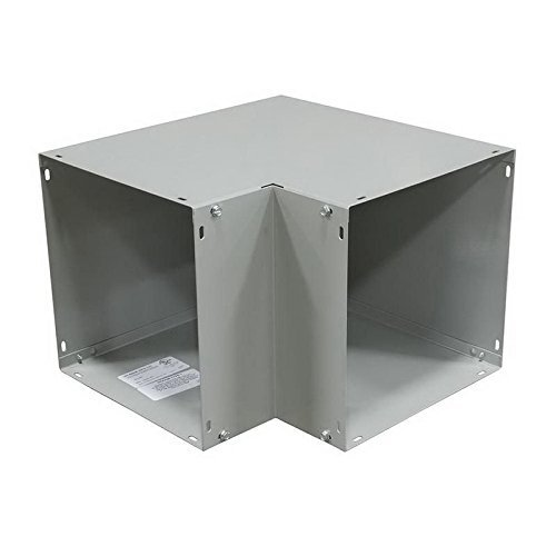 Milbank 1010L90C Corner Opening Side Access Lay-In Wireway 90 Degree Elbow 10 Inch x 10 Inch Steel ANSI 61 Gray Polyester Powder Coated ()