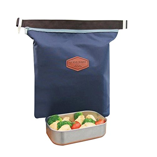 HighlifeS Lunch Bag Waterproof Thermal Fashion Cooler Insulated Lunch Box More Colors Portable Tote Storage Picnic Bags (Navy) by HighlifeS (Image #5)