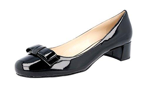 Prada Women's DNC666 O6E F0002 Black Leather Pumps/Heels EU 39.5/US (Prada Black Pumps)