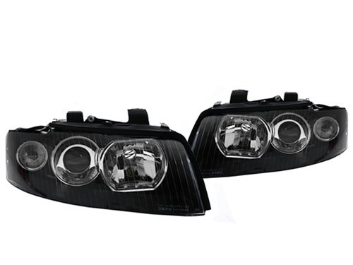 02-05 AUDI A4/S4 B6 BLACK ECODE EURO PROJECTOR HEADLIGHTS - D1S HOUSING ()