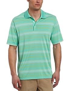 adidas Golf Men's Climacool Merchandising Stripe Polo Shirt, Mint Green/Island, Small