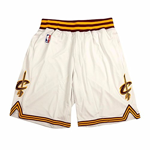 adidas Cleveland Cavaliers NBA White Authentic On-Court Climacool Team Game Shorts for Men (XLT)