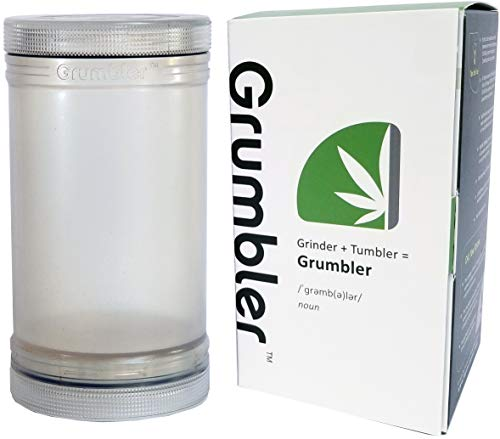 MyGrumbler.com Grumbler - Medical Herb and Accessory Storage Case w/Detachable Grinder, Pre-Roll Protector, Grinds Funnel. Smell Proof, Food Safe, Child Resistant (THC Crystal) (Best Medical Marijuana For Ms)