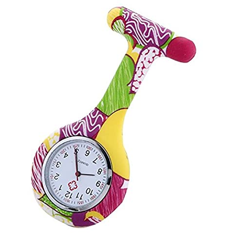 foopp silicona reloj flores impresión reloj médico reloj para Enfermeras Médico: Amazon.es: Hogar