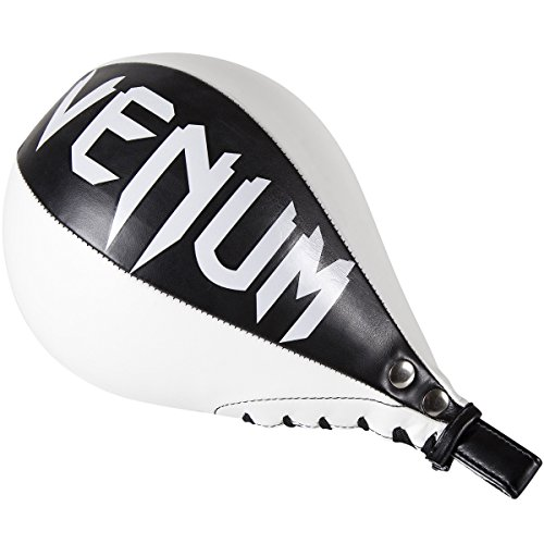 Venum Skintex Leather Speed Bag, Black/Ice, Large
