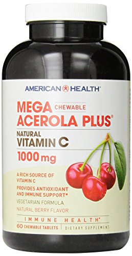 American Health Mega Acerola Plus, 1000 mg, 60 Count
