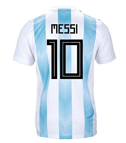 ホット骨髄ダッシュAdidas Messi # 10 Argentina公式Youth Home Soccer Jersey World Cup Russia 2018