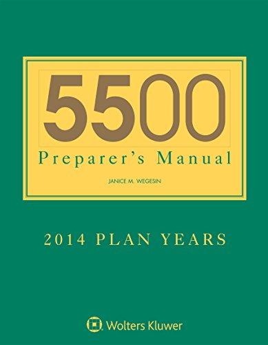 5500 Preparers Manual for 2014 Plan Years