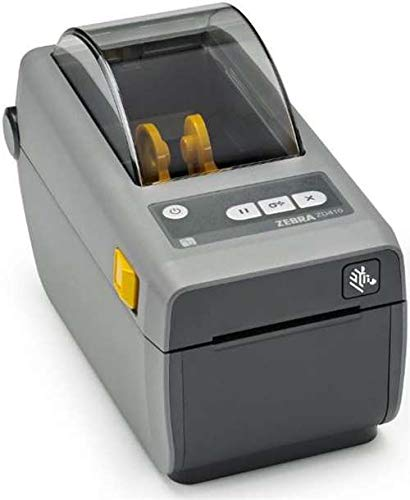 Zebra - ZD410 Wireless Direct Thermal Desktop Printer for Labels, Receipts, Barcodes, Tags, and Wrist Bands - Print Width of 2 in - USB, Ethernet, Bluetooth Low Energy ()