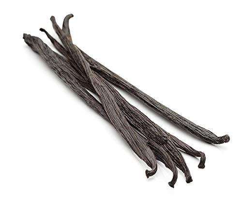 - Vanilla Beans Grade A, 5 Pure Gourmet NON-GMO Whole Pods (Tahitian Vanilla)