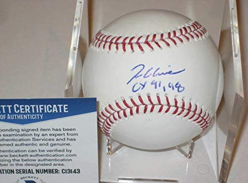 (Autographed Tom Glavine Ball - Official w Beckett COA & CY Inscrip - Beckett Authentication - Autographed Baseballs)