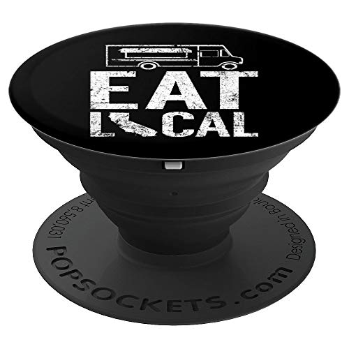Eat Local California | Cool CA Street Food Truck Owner Gift - PopSockets Grip and Stand for Phones and Tablets