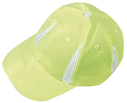 Amazon.com   High-Visibility Reflective Baseball-Style Cap Hat Neon ... b2849654ce9