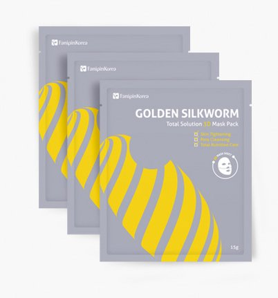 GOLDEN SILKWORM TOTAL SOLUTION SILK MASK (3ea)