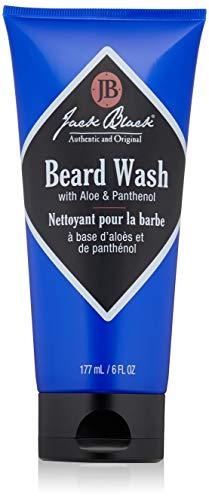 JACK BLACK – Beard Wash – PureScience Formula, Aloe & Panthenol, Multifunctional Beard Treatment, Softens Facial Hair, Removes Oil and Dirt, Conditions Facial Hair and Skin, 3 & 6 fl. oz.