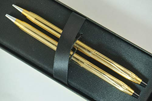 Cross Made in The USA Century Classic 10K Gold Rolled/Filled Ballpoint Pen & 0.9MM Pencil Set. Made in Lincoln, RI USA
