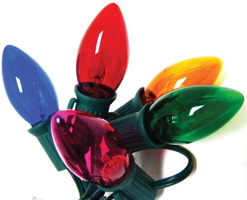 Good Tidings Holiday Light Set, 25-Lights, Transparent Multi-Colored - Xmas Lights C9